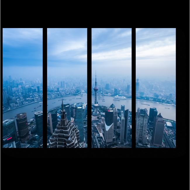 Модульная картина Над крышами большого города