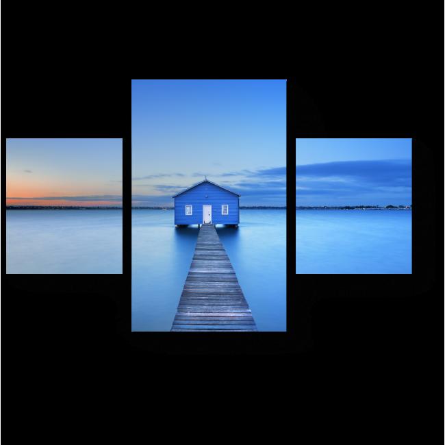 Модульная картина Бесконечность синего