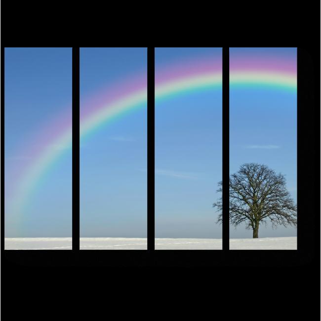 Модульная картина Зимой тоже бывает радуга