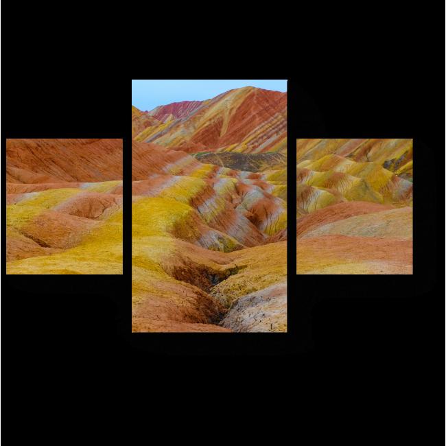 Модульная картина Горы в полоску
