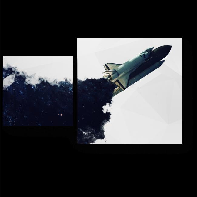 Модульная картина Абстракция космоса