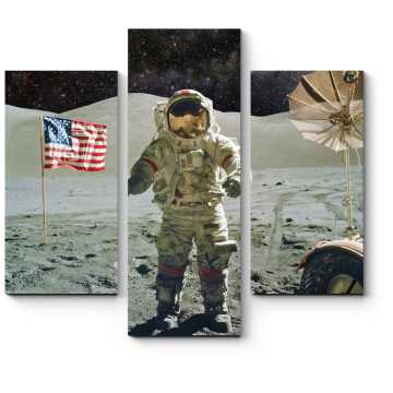 Модульная картина Астронавт на Луне