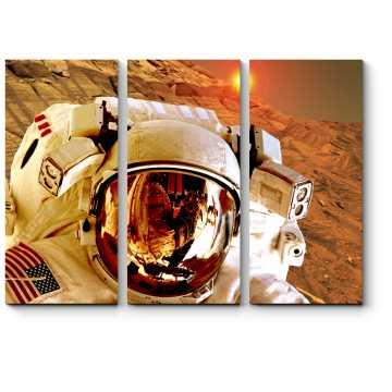 Модульная картина Приземление на Марсе