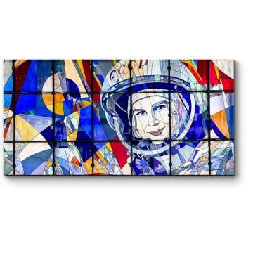 Модульная картина Первая женщина-космонавт