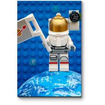Модульная картина Лего-космонавт