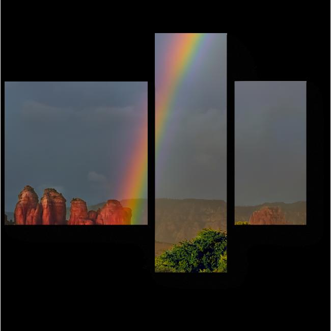 Модульная картина Где начинается радуга