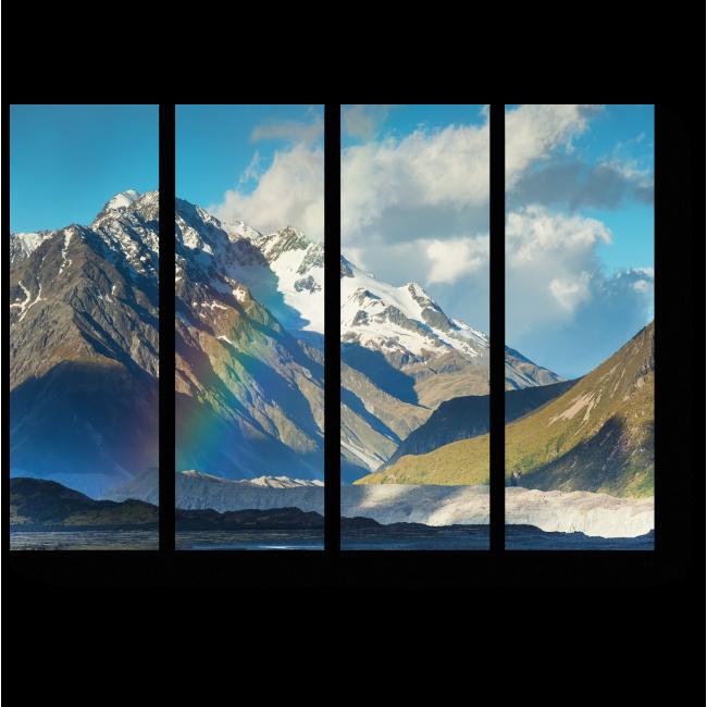 Модульная картина Радуга в горах