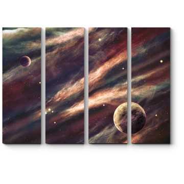 Туманность и планеты