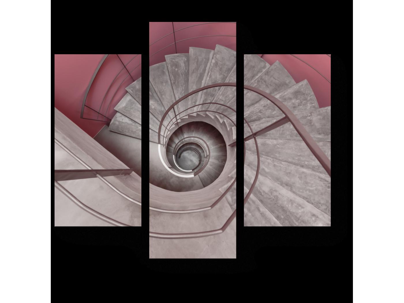 Модульная картина Спиральная лестница (60x54) фото