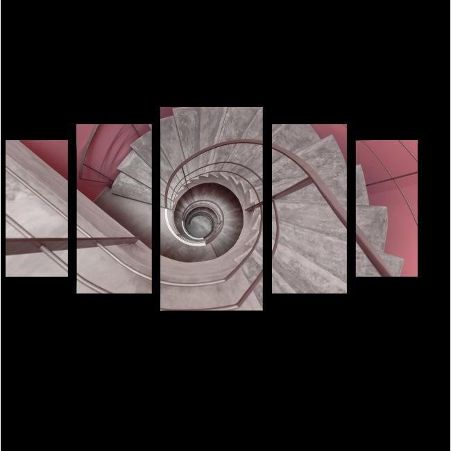 Модульная картина Спиральная лестница