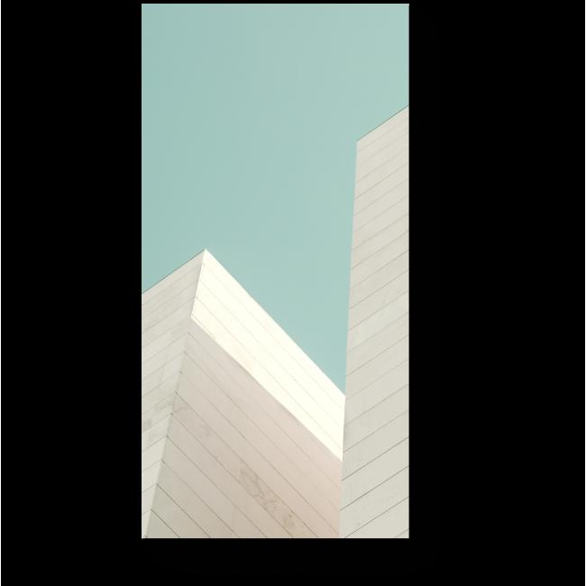 Модульная картина Каменный фасад