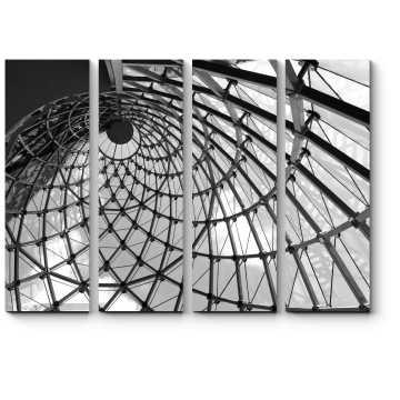 Модульная картина Футуристичный вихрь