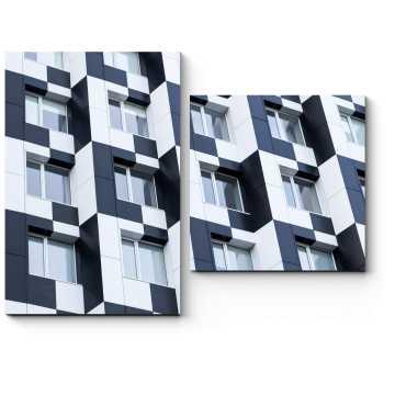 Модульная картина Черно-белый узор