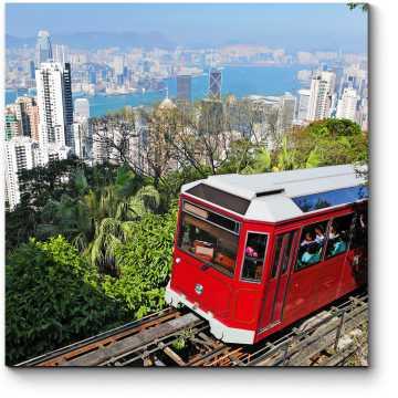 Прогулочный трамвайчик в Гонконге