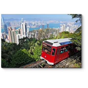 Модульная картина Прогулочный трамвайчик в Гонконге