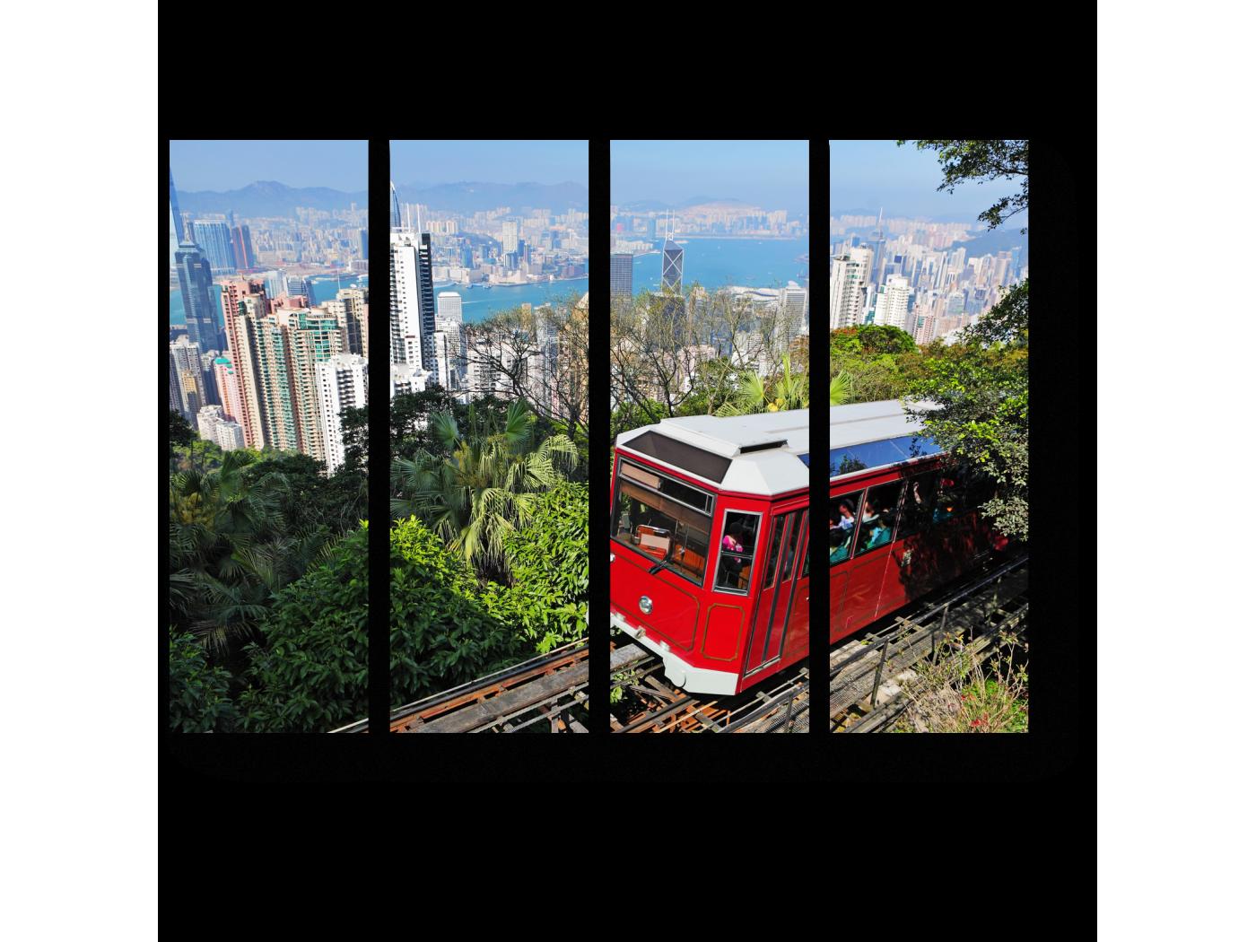 Модульная картина Прогулочный трамвайчик в Гонконге (60x45) фото
