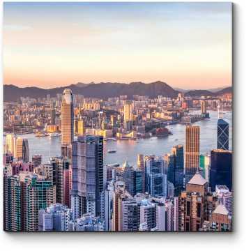 Модульная картина Закат над бухтой Виктория, Гонконг