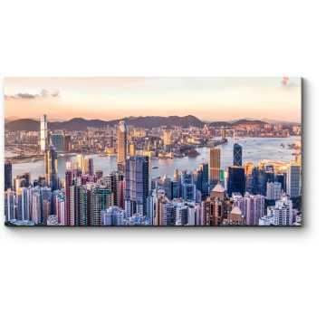 Закат над бухтой Виктория, Гонконг