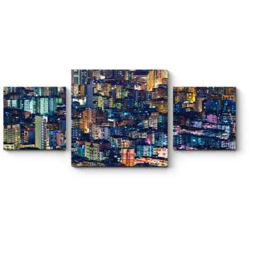 Модульная картина Пейзаж засыпающего Гонконга
