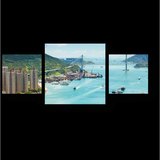 Модульная картина Гонконг в солнечных лучах