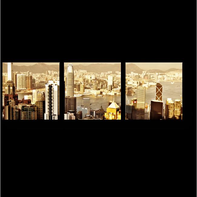 Модульная картина Небоскребы солнечного Гонконга