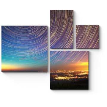 Модульная картина Тысяча оттенков неба