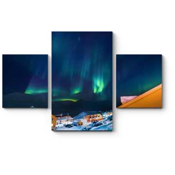 Модульная картина Невероятное северное сияние