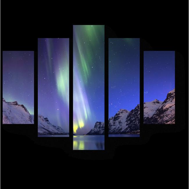 Модульная картина Холодное сияние ночи