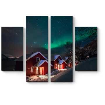 Модульная картина Зимняя ночь