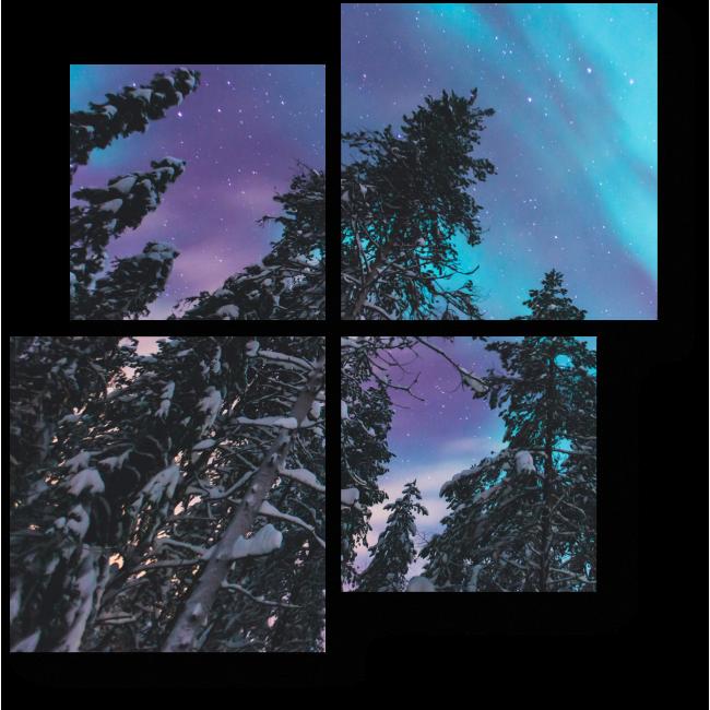 Модульная картина Посмотри, какое небо