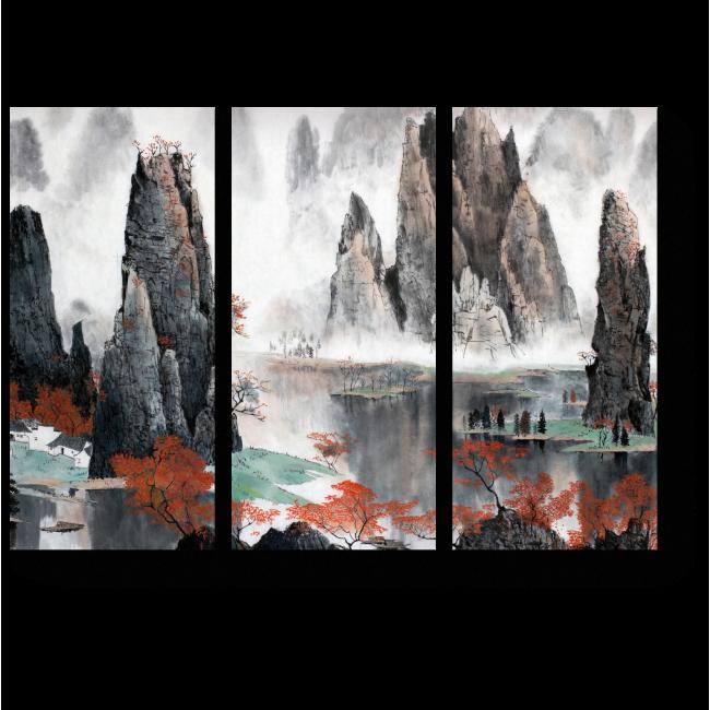 Модульная картина Путешествие среди гор