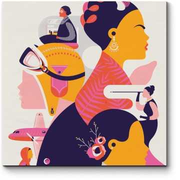 Модульная картина Приключенческий постер