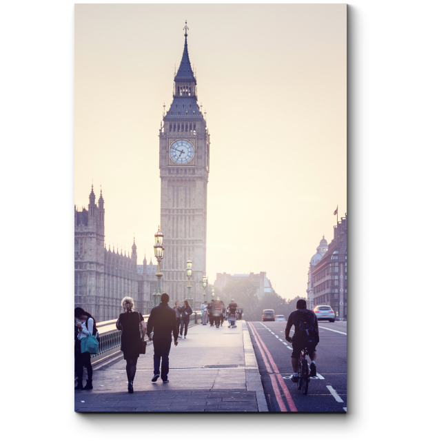 Модульная картина Биг-Бен на закате, Лондон