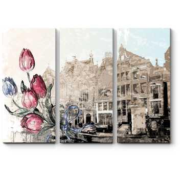 Модульная картина Винтажный Амстердам