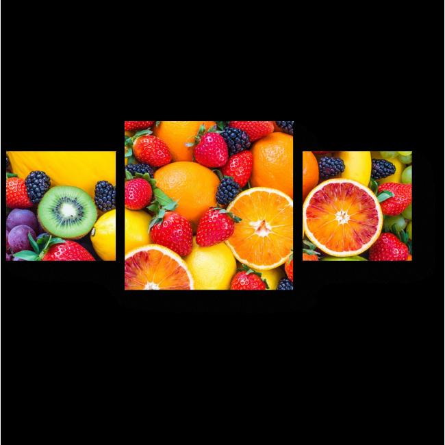 Модульная картина Сочные фрукты