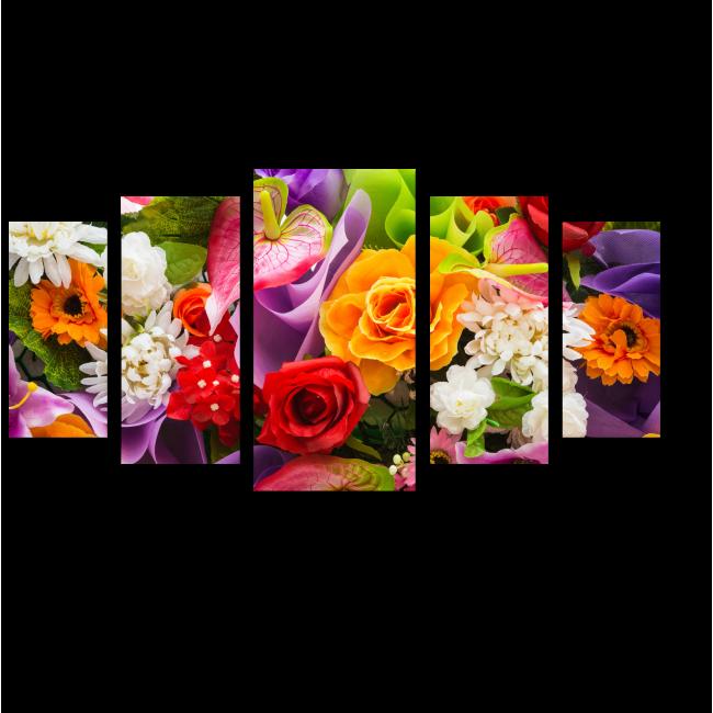 Модульная картина Буйство цветочных красок