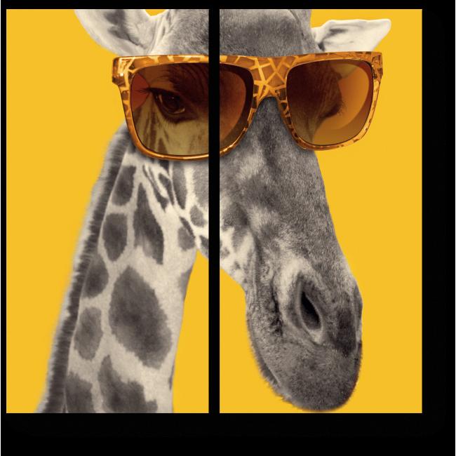 Модульная картина Жираф в очках