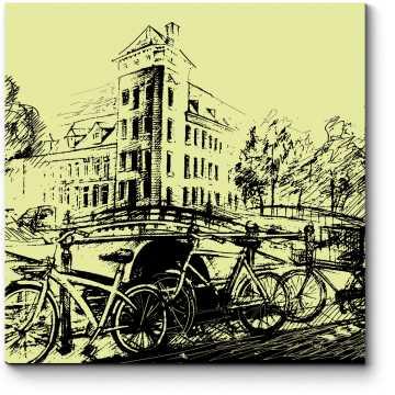 Модульная картина Зарисовка Амстердама