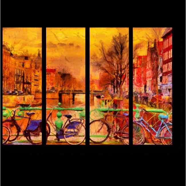 Модульная картина Амстердам глазами импрессионистов