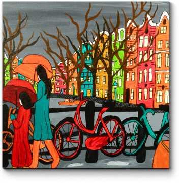 Дождливый вечер в Амстрдаме