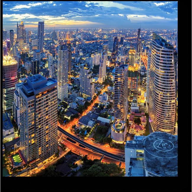 Модульная картина Бангкок высоты птичьего полета