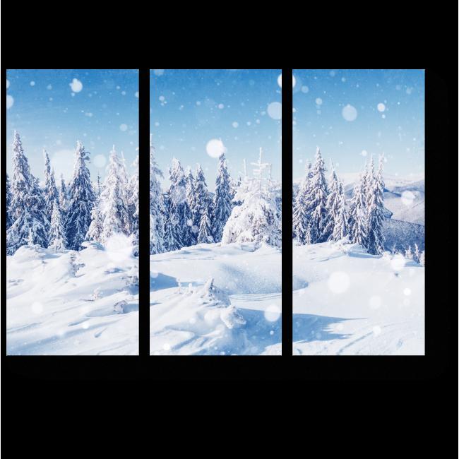 Модульная картина Зимний лес