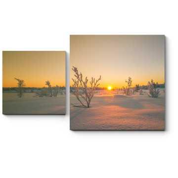Модульная картина Снежная пустыня