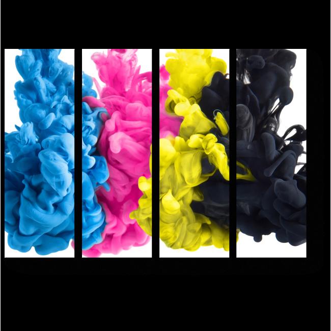 Модульная картина Клубы цвета