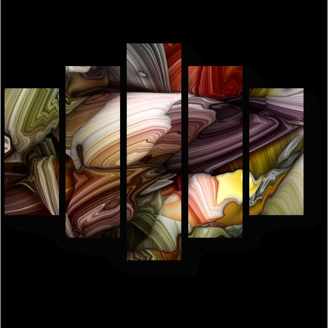 Модульная картина Цветной каньон