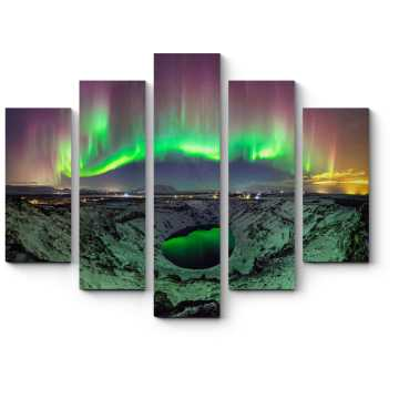 Модульная картина Удивительные краски ночи