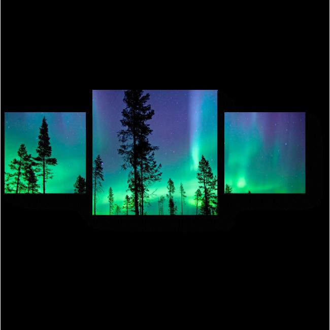 Модульная картина Неоновый свет