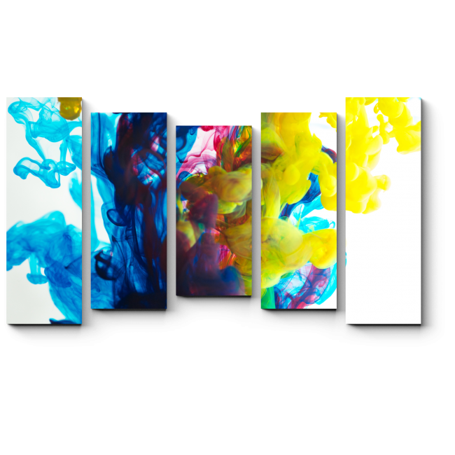 Модульная картина Краски в воде