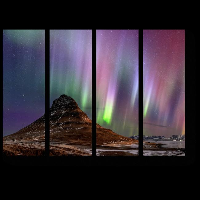 Модульная картина Сияние ночного неба