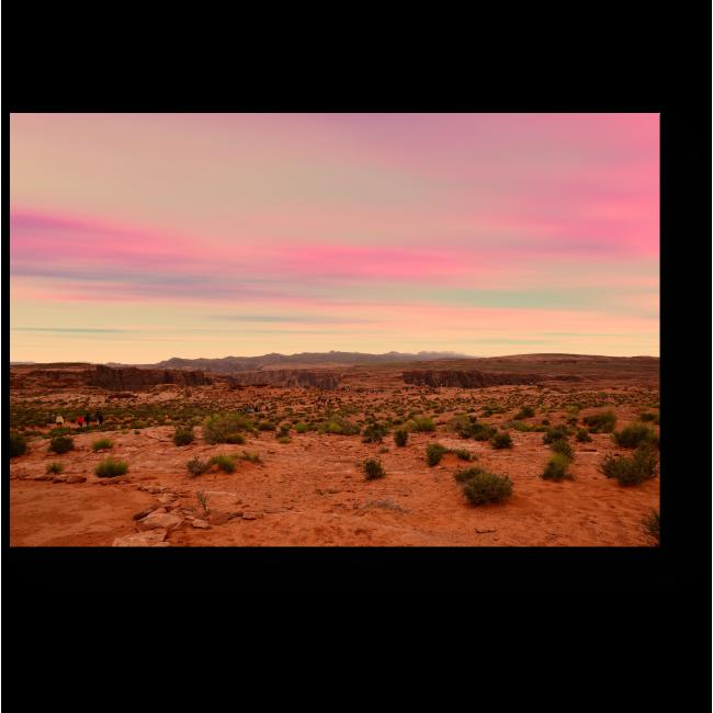 Модульная картина Закат в Аризоне